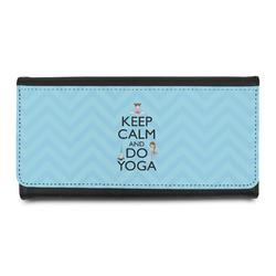 Keep Calm & Do Yoga Leatherette Ladies Wallet
