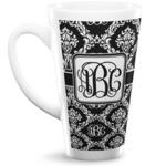 Monogrammed Damask 16 Oz Latte Mug