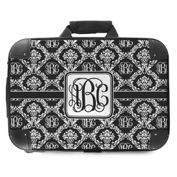 Monogrammed Damask Hard Shell Briefcase