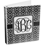 Monogrammed Damask 3-Ring Binder (Personalized)