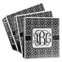 Monogrammed Damask 3-Ring Binder (Personalized)