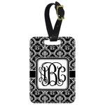 Monogrammed Damask Aluminum Luggage Tag (Personalized)