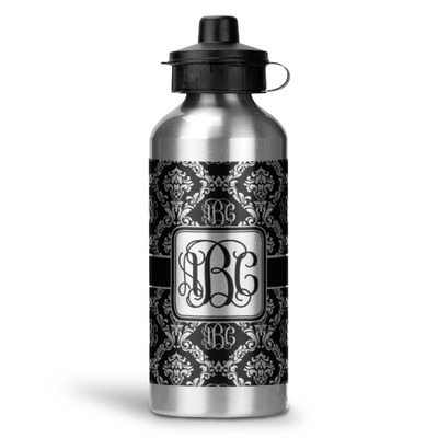 Monogrammed Damask Water Bottle - Aluminum - 20 oz (Personalized)