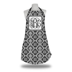 Monogrammed Damask Apron (Personalized)