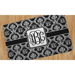 Monogrammed Damask Area Rug (Personalized)