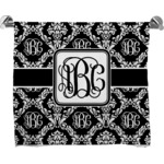 Monogrammed Damask Full Print Bath Towel (Personalized)