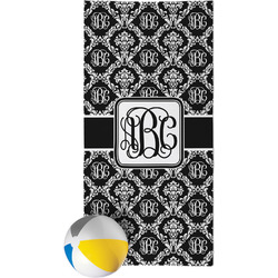 Monogrammed Damask Beach Towel (Personalized)
