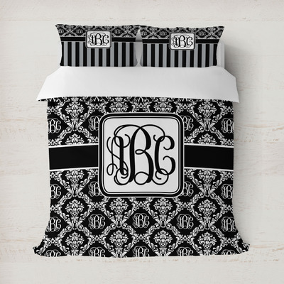 Monogrammed Damask Duvet Covers (Personalized)