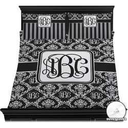 Monogrammed Damask Duvet Cover Set (Personalized)