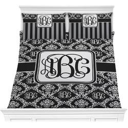 Monogrammed Damask Comforter Set (Personalized)