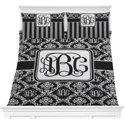 Monogrammed Damask Comforter Set - Full / Queen (Personalized)
