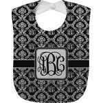 Monogrammed Damask Baby Bib (Personalized)