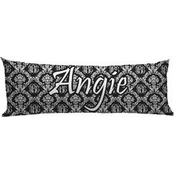 Monogrammed Damask Body Pillow Case (Personalized)