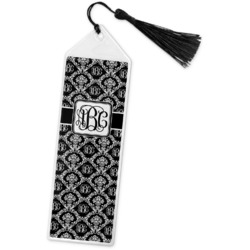 Monogrammed Damask Book Mark w/Tassel (Personalized)