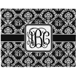 Monogrammed Damask Woven Fabric Placemat - Twill