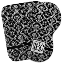 Monogrammed Damask Burp Cloth