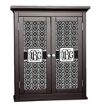 Monogrammed Damask Cabinet Decal - Custom Size (Personalized)