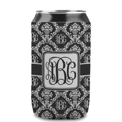 Monogrammed Damask Can Sleeve (12 oz) (Personalized)