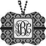 Monogrammed Damask Rear View Mirror Decor (Personalized)