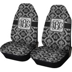 Monogrammed Damask Car Seat Covers (Set of Two) (Personalized)
