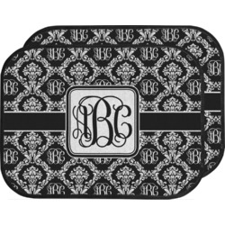 Monogrammed Damask Car Floor Mats (Back Seat) (Personalized)