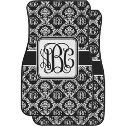 Monogrammed Damask Car Floor Mats (Front Seat) (Personalized)