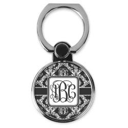 Monogrammed Damask Cell Phone Ring Stand & Holder (Personalized)