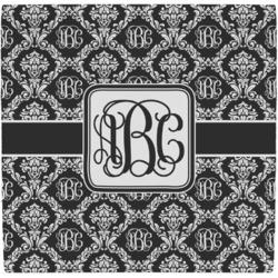 Monogrammed Damask Ceramic Tile Hot Pad (Personalized)
