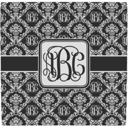 Monogrammed Damask Ceramic Tile Hot Pad (Personalized)