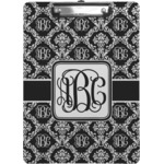 Monogrammed Damask Clipboard (Personalized)