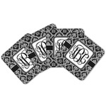 Monogrammed Damask Cork Coaster - Set of 4