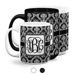 Monogrammed Damask Coffee Mugs