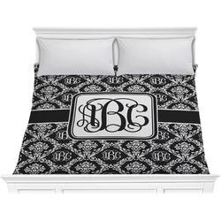 Monogrammed Damask Comforter - King (Personalized)