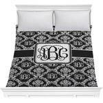 Monogrammed Damask Comforter (Personalized)