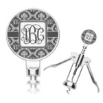 Monogrammed Damask Corkscrew (Personalized)