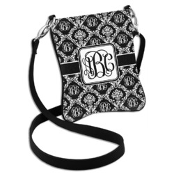 Monogrammed Damask Cross Body Bag - 2 Sizes (Personalized)