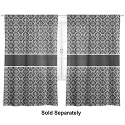 "Monogrammed Damask Curtains - 20""x54"" Panels - Lined (2 Panels Per Set) (Personalized)"
