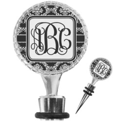 Monogrammed Damask Wine Bottle Stopper (Personalized)