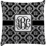 Monogrammed Damask Decorative Pillow Case (Personalized)