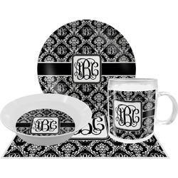 Monogrammed Damask Dinner Set - 4 Pc (Personalized)