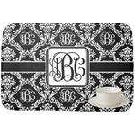 Monogrammed Damask Dish Drying Mat (Personalized)