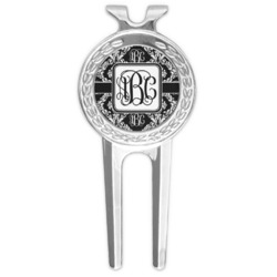 Monogrammed Damask Golf Divot Tool & Ball Marker (Personalized)