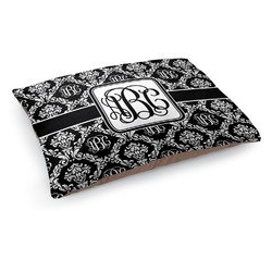 Monogrammed Damask Dog Pillow Bed (Personalized)
