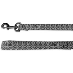 Monogrammed Damask Deluxe Dog Leash (Personalized)