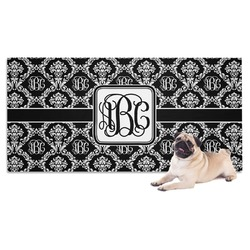 Monogrammed Damask Pet Towel (Personalized)