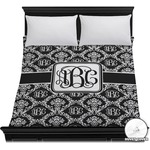 Monogrammed Damask Duvet Cover (Personalized)