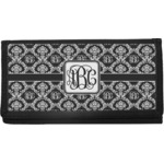 Monogrammed Damask Canvas Checkbook Cover (Personalized)