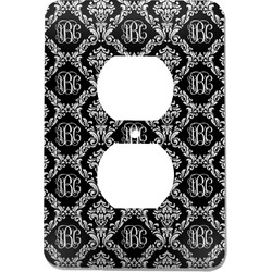 Monogrammed Damask Electric Outlet Plate (Personalized)