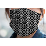 Monogrammed Damask Face Mask Cover (Personalized)