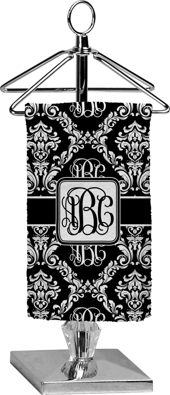 Monogrammed Damask Finger Tip Towel - Full Print (Personalized ...